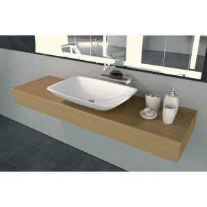 Lavabo solid surface tesello - Cazaña