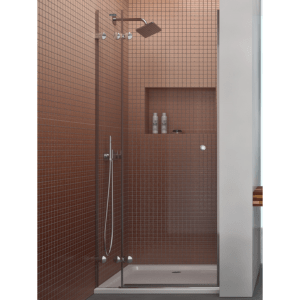 Mampara frontal de ducha 1 fijo + 1 puerta abatible - Collection Pure Style - Duscholux