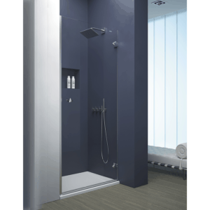 Mampara frontal de ducha de 1 puerta abatible - Collection Pure Style - Duscholux