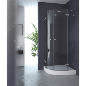 Mampara semicircular de ducha 2 fijos + 2 puertas abatibles - Collection Pure Style - Duscholux