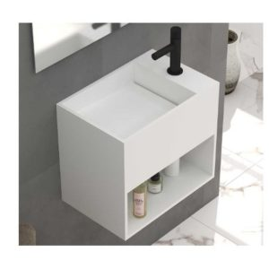 Lavabo suspendido a pared Corian Solid Surface - Bronn - Baños10
